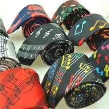 Горячее поступление модные 29 дизайнов 5 см галстуки для музыкальных нот галстук музыкальный нот музыка счет звук спектр Галстуки