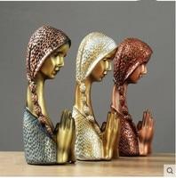 Praying girl, European creative home accessories, resin decorative figure ornaments,