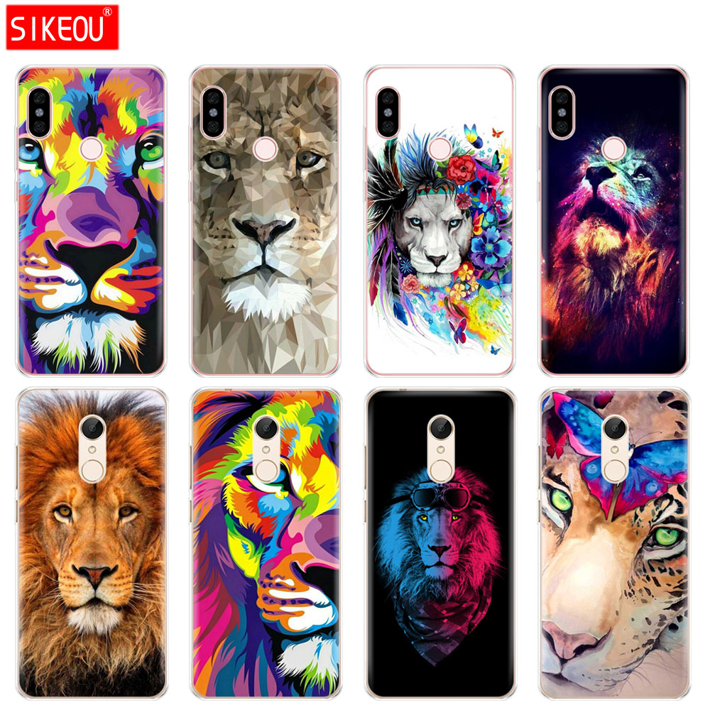 Silicone Cover phone Case for Xiaomi redmi 5 4 1 1s 2 3 3s pro PLUS redmi note 4 4X 4A 5A Big Lion On Stone snow