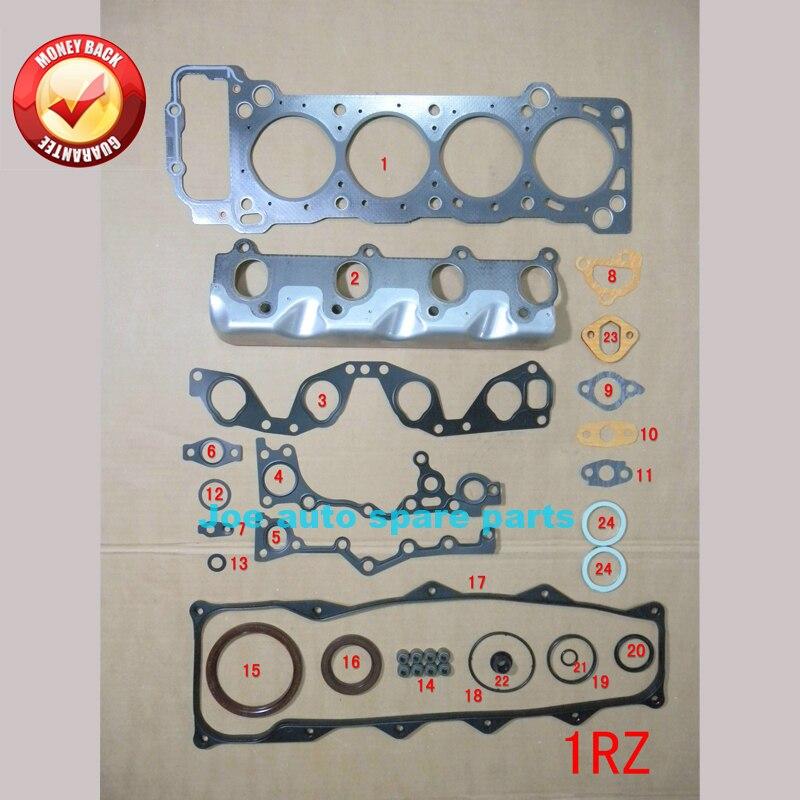 1RZ 1RZE Motore completo Completo guarnizioni set kit per Toyota HIACE III wagon/HILUX II pickup/HILUX piattaforma 2.0