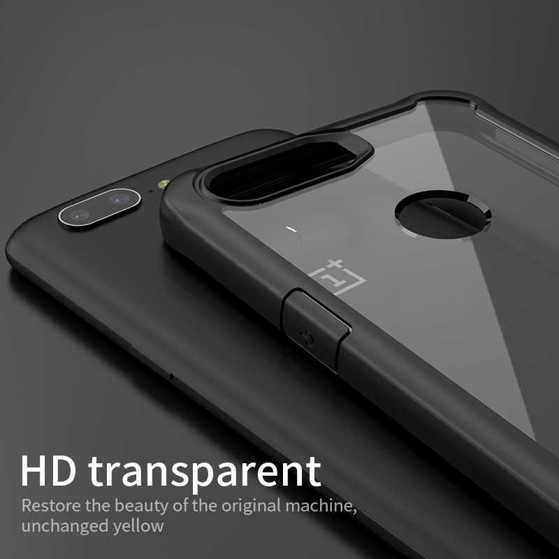 Para Oneplus 5 T funda Original IPAKY para one plus 5 T silicona acrílica híbrida a prueba de golpes funda transparente para OnePlus 5 caso
