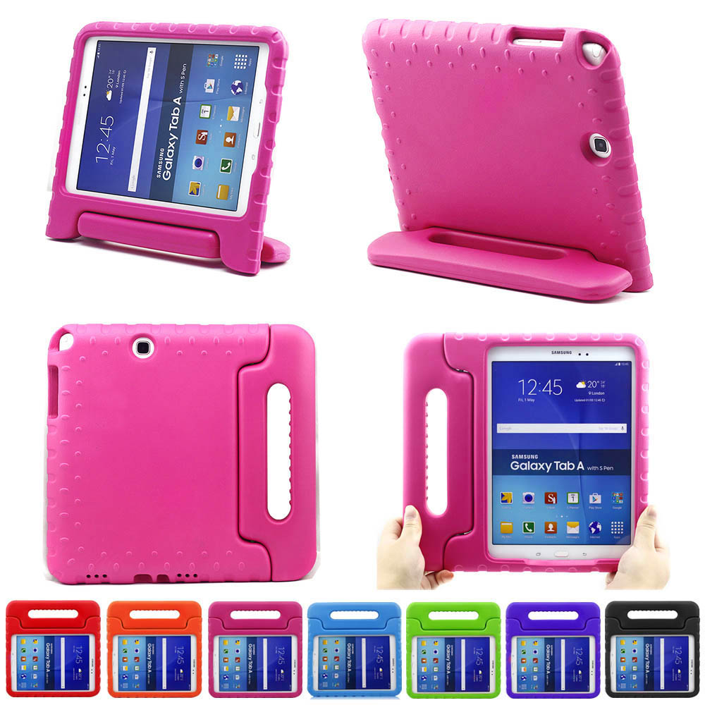 Kids Children Safe Rugged Proof Foam Case Handle Stand for Samsung Tab A 8.0 T350 T351 Thick EVA foam Kids Shockproof Case Cover shockproof stand handle protective cover for amazon kindle fire hd7 2015 children kids thick foam eva back case