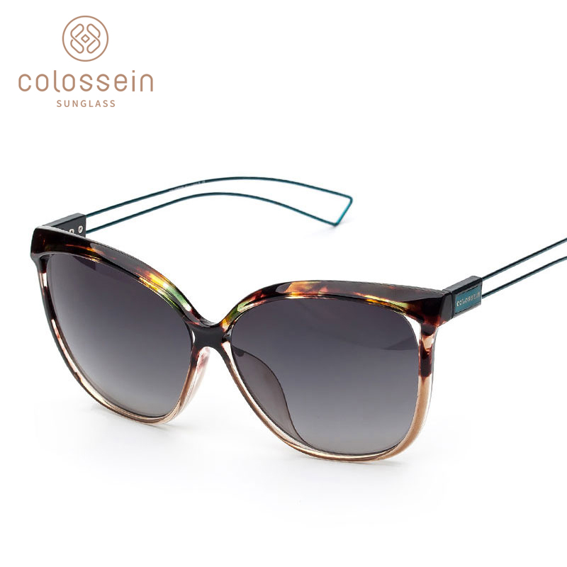 COLOSSEIN Sunglasses Women Cat Eye Fashion Brand Designer UV