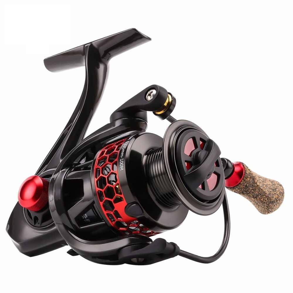 Nowy super Spinning wędkarstwo kołowrotek MORPH 2000 3000 11BB 5.2: 1 ATD cięte aluminiowa szpula C60 korpus z włókna węglowego Spinning ryby koła