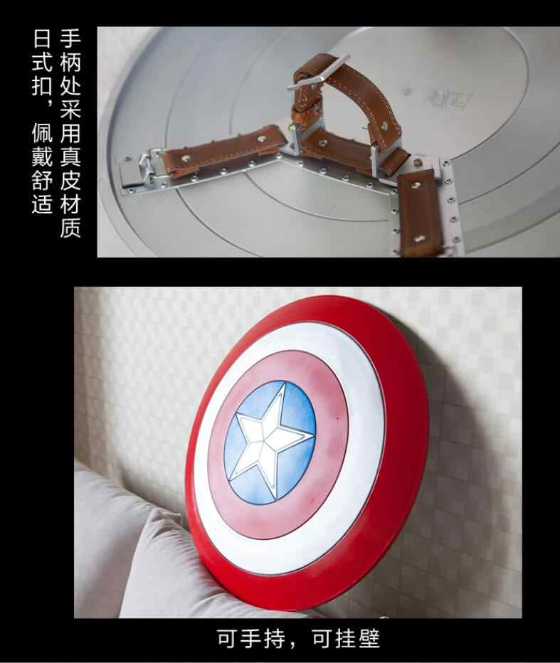 Action Figure 1:1 Captain America Metal Shield Model Avengers Home Decoration Cos Movie Props Halloween Props Gifts 60 Cm A