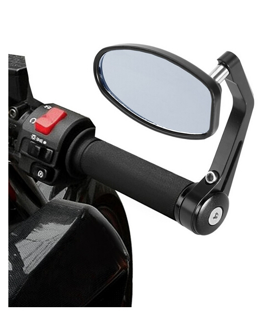 "Flexible 7/8"" Handlebar Aluminum Alloy Motorcycle Accessories Motocycle Rearview Mirrors Moto End Motor Side Mirrors"