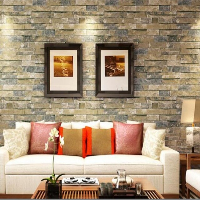 Beibehang Brick Wall Kitchen Wallpaper Home Decoration Brick Grain  Wallpaper For Walls 3 D Dimensional Brick