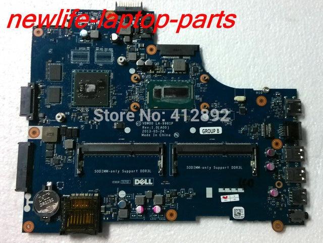 Motherboard original para dell 5537 yk7dy 0yk7dy vbw00 la-9981p w/i7 cpu ddr3 maiboard 100% teste rápido navio
