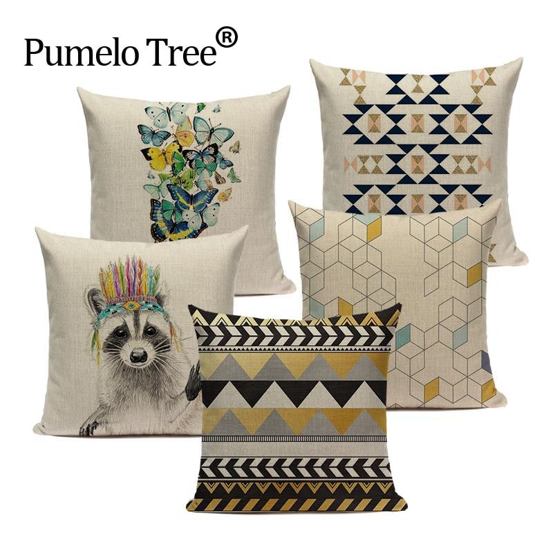 Pop geometria almofada decorativa capas de almofada Cavalo Macaco casa Personalizada almofadas capa de almofada almofadas Dropshipping