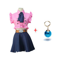 anime cosplay women The Seven Deadly Sins Anime Costumes elizabeth liones Halloween cosplay Uniform Suit Outfit Clothes+Earring