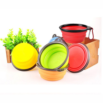 Folding Silicone Dog Food Bowl