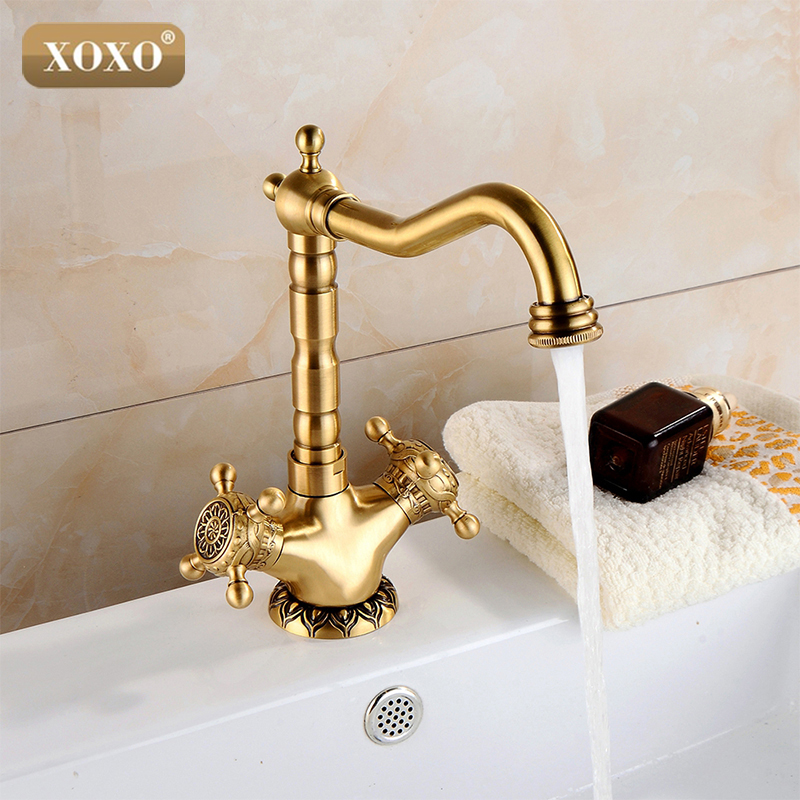 XOXO Continental Double The Copper Basin Faucet Hot and Cold Taps Retro Retro Art Basin Counter Basin Faucet 50021B-1 зимняя шина continental contivikingcontact 6 225 55 r17 101t