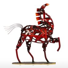 Handmade Metal Horse Sculpture