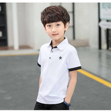 New Summer Kids School Polo Shirts For Boys Cotton Polo Child Short Sleeve Polo Shirt Boys High Quality Children Summer Clothing недорого