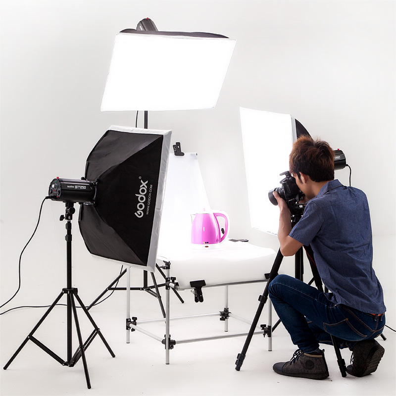 God cattle 250 w studio flash still softbox taobao studio for Product design studio