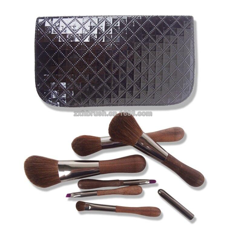 6pc/set High-grade Horsehair Brush Set Senior Ebony Brush Handle