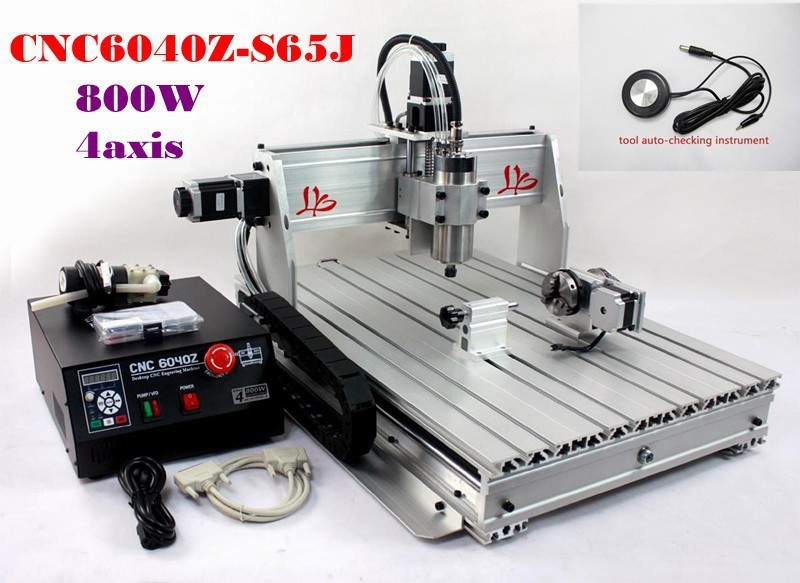 Ship to Russia, NO TAX! Hot selling Engraver 4 axis CNC Router 6040Z-S65J with wireless handwheel russia only no tax cnc router 6040z s80 4 axis engraver milling drilling machine numerical control router
