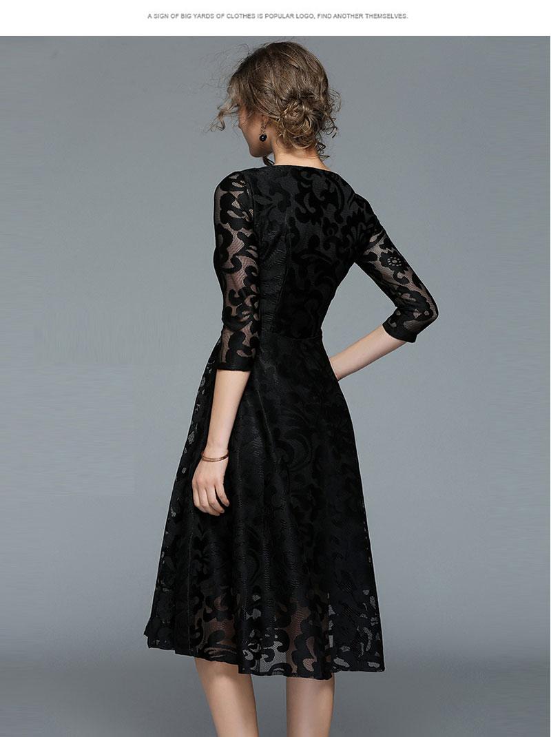 Borisovich New 18 Spring Fashion England Style Luxury Elegant Slim Ladies Party Dress Women Casual Lace Dresses Vestidos M107 7