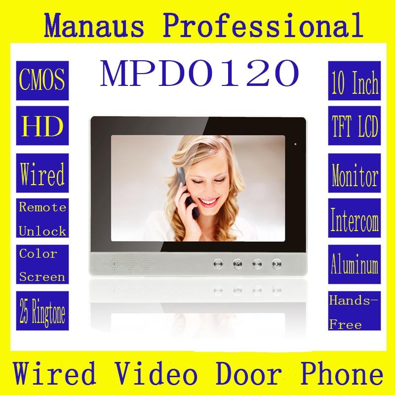 High Quality Professional Smart Home 10 Inch  Screen Video Intercom Phone,Indoor Monitor Video Doorphone Doorbell System D120a