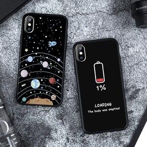 Image 3 - Matowy futerał na iPhone X XS Max XR 5 5S SE 6 6 S Plus 7 8 Plus miękka TPU krzemu czarny streszczenie na telefony pokrywa Coque dla iPhone XS Max