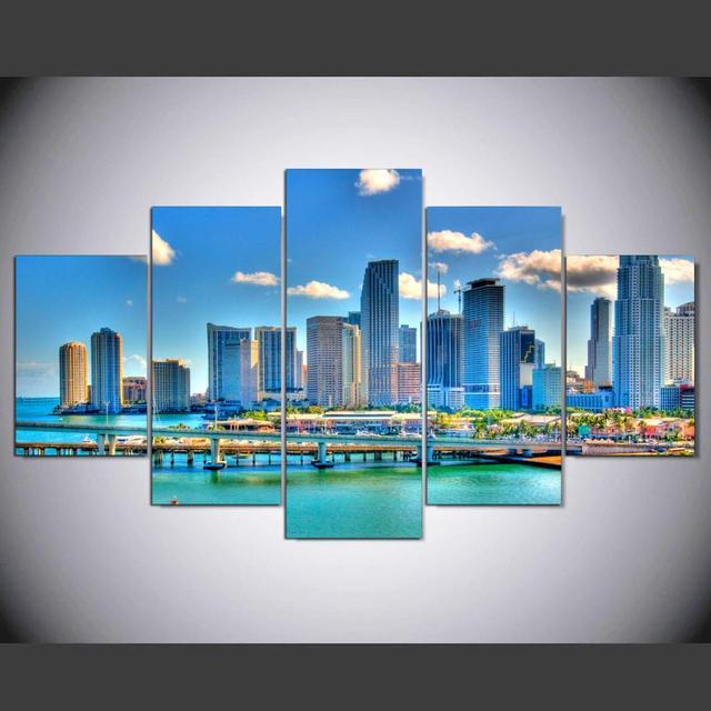 PcsSet HD Printed Beautiful Miami Florida Modern Wall Decor - Painting miami