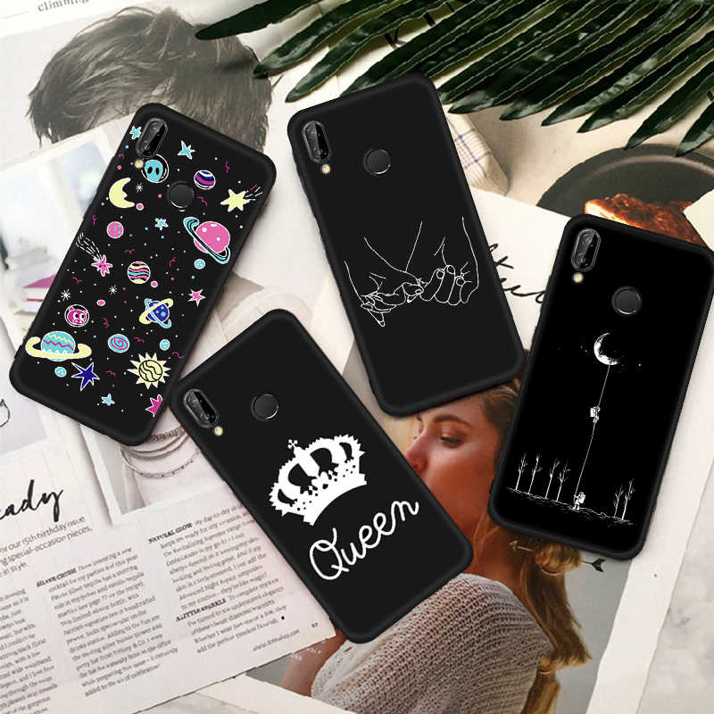 GerTong Moon Printed Silicone Phone Case For Honor 9i 8 Lite Cover For Huawei P10 P8 P9 Mate 10 Lite P20 Pro Nova2i Soft Coque