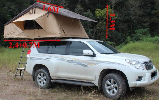 Rooftop 3 1x1 6M Roof Top Tent for Camper Trailer 4WD 4X4 Camping Car with  Rack Ladder