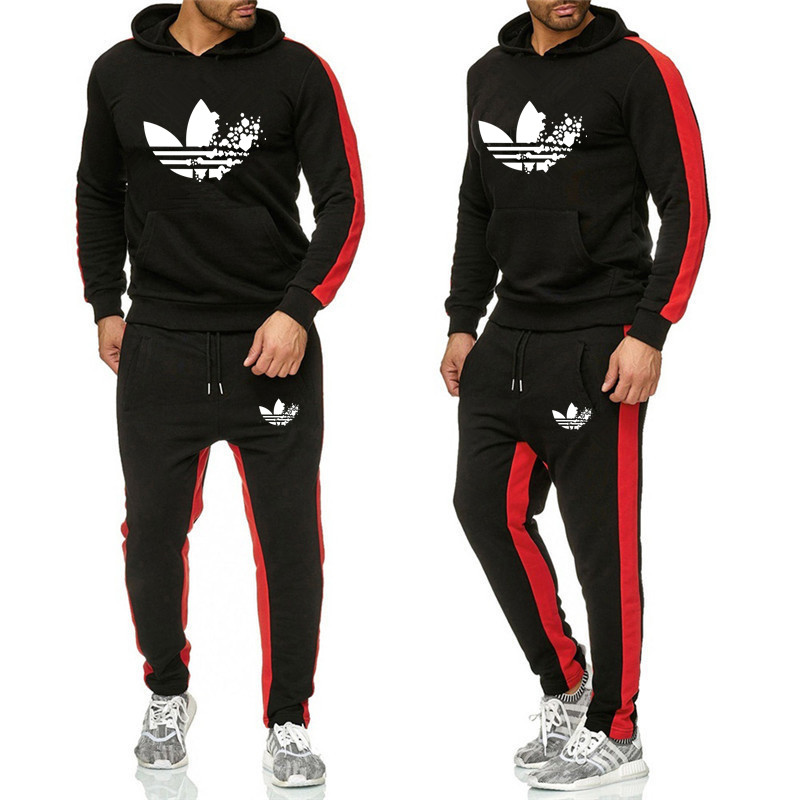 2019Men Sportswear Hoodies Pants Set Spring Track Suit Clothes Casual Tracksuit Men Sweatshirts Coats Male Joggers Streetwear