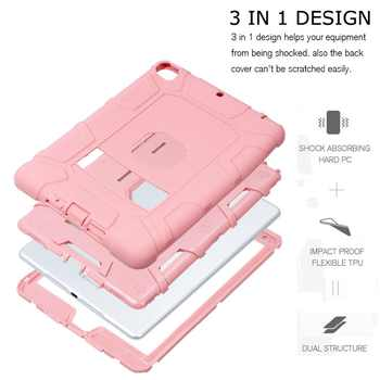 Shockproof Heavy Duty Rubber Hard Stand Case Cover For iPad 9.7 2018 Case 6th Gen A1893 A1954 2017 5th Gen A1822 A1823