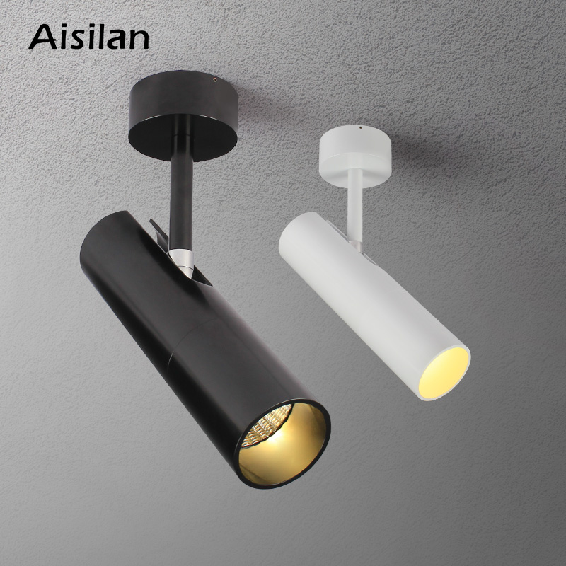 Aisilan Modern LED Ceiling Spotlights Surface Mounted AC85 260V 5/7W 360+90 Angle Rotation for Living Home Commercial Lighting