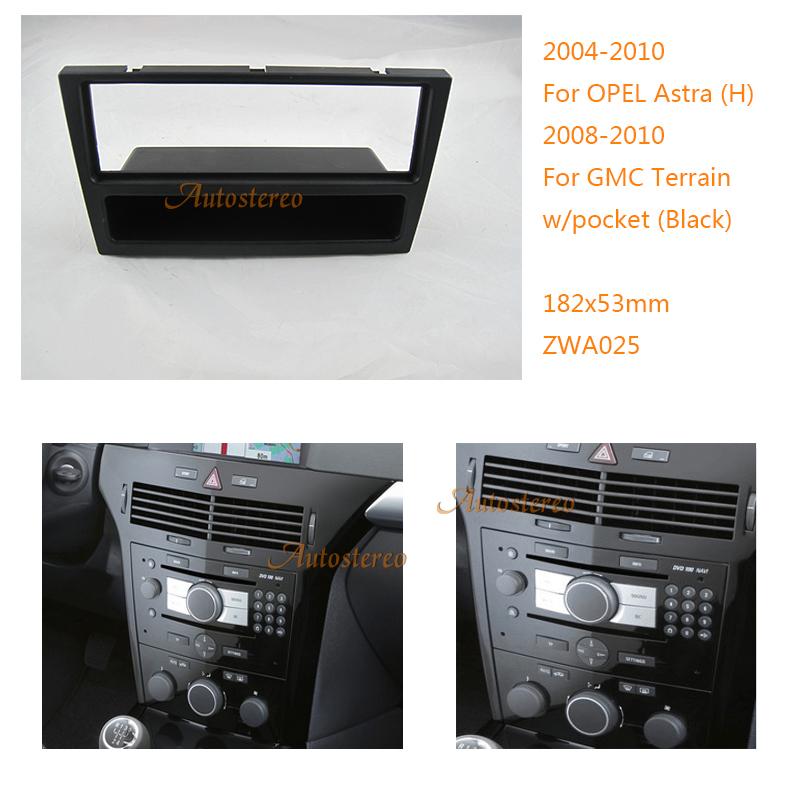 Car DVD Radio Fascia for OPEL Astra (H),DAEWOO Winstorm,GMC Terrain Stereo Facia Plate Surround CD Kit Trim Panel 11-025