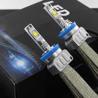 2X 9000LM H7 LED Del Faro Kit per XHP50 Chip Fanless SUPER Bianco di Guida Del Faro H4 H8 H11 H16 (JP) 9005 9006 H10 9012