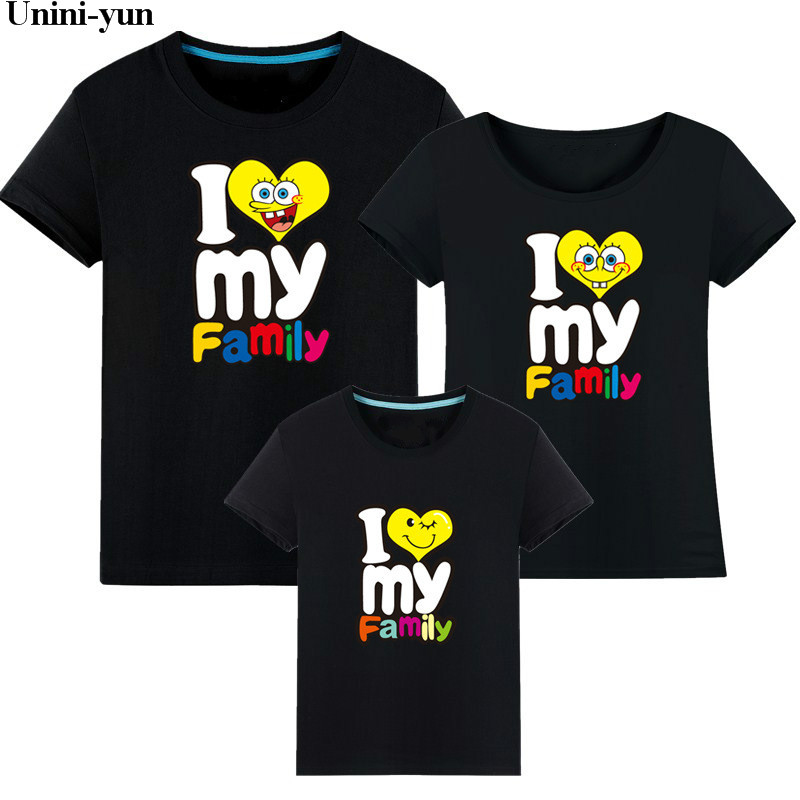 Family matching clothes mother daughter T Shirt son outfits cotton casual short-sleeve T-shirt family look father baby clothing matching family clothing set 2015 autumn style winter family look matching mother daughter father son long sleeve sweater set