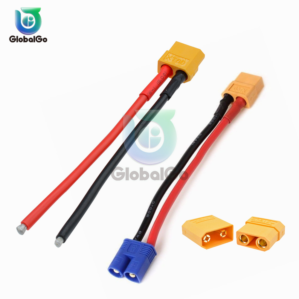 XT60 XT-60 XT90 XT-90 Male Female Plug Connector Adapter For RC Lipo Battery Drone Car XT60 EC2 Banana Male To Female Plug Con