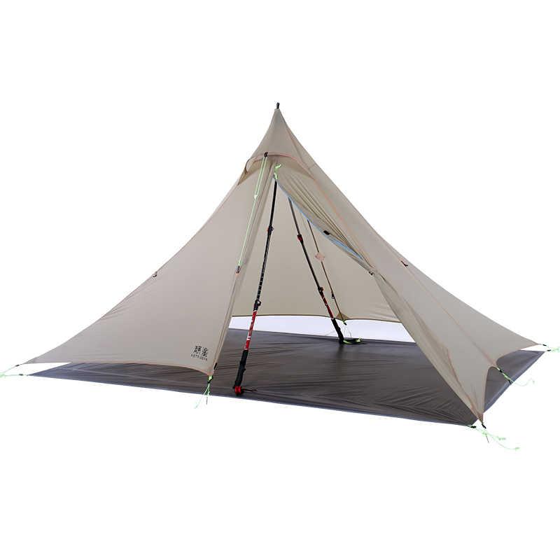 ASTAGEAR wiatr wisper 2 boczne 20D silnylon ultralight ASTA piramida odkryty 1 osoba 2 warstwy 3 sezony namiot kempingowy