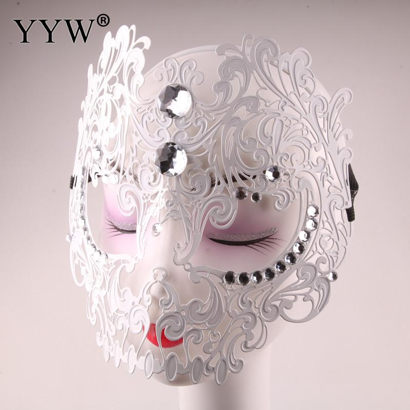 Sexy Mask Party Masks Metal Full Face Masque Prom Halloween Venetian Mask Women For Masquerade Masker Costume Carnival Supplies in Party Masks from Home Garden