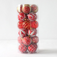 24pcs 6cm Christmas Tree Ball Bauble Hanging Xmas Party Home Ornament Decoration