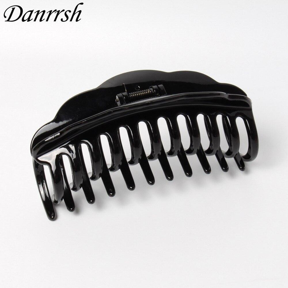 Большие Когти для волос 13 см, простые прочные зажимы для волос заколка-краб черного и коричневого цвета, аксессуары для волос для женщин
