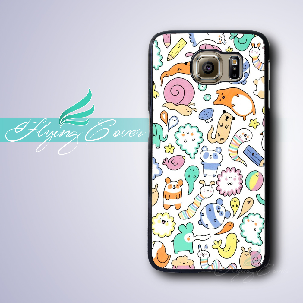 Coque Kawaii Doodles Housing Phone Cases for Samsung Galaxy S3 S4 S5 S6 S7 Edge Plus Case for Samsung Galaxy Note 7 5 4 3 Cover.