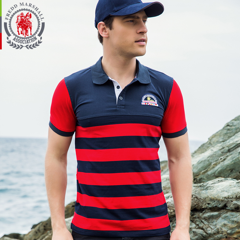 2018 Gestreiften Sommer Polo Männer Casual Baumwolle Weiche Polo Shirt Männer Drehen-unten Kragen Kurzarm Slim Fit Camisa Polo