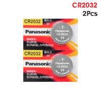 PANASONIC 2pc original cr2032 DL2032 ECR2032 5004LC KCR2032 BR2032 3v taste batterie münze auto spielzeug handy batterie
