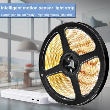 Motion Sensor LED Strip Light Waterproof 5V Flexible USB Wireless Lamp Night Tape For Bedside Cabinet