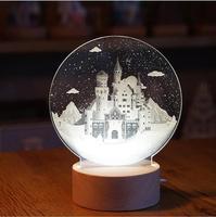 Креативный скандинавский Рождественский олень круглый Одуванчик луна лампа Млечный Путь ночник