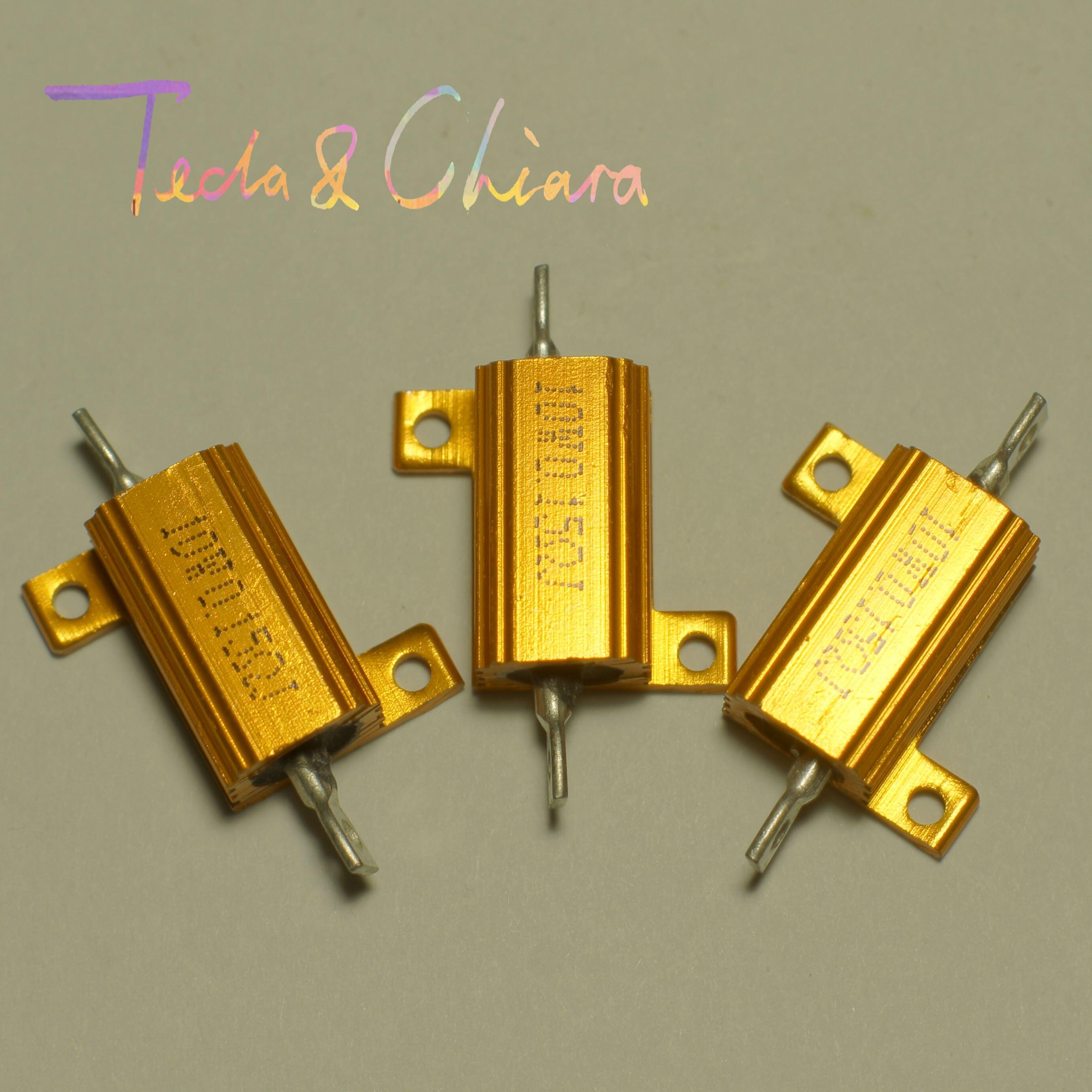 4.7R 4.7 4.7ohm 47R 47 47ohm R Ohm 10W Watt Gold Tone Wirewound Aluminum Power Metal Shell Case Resistance Resistor RX24 цена