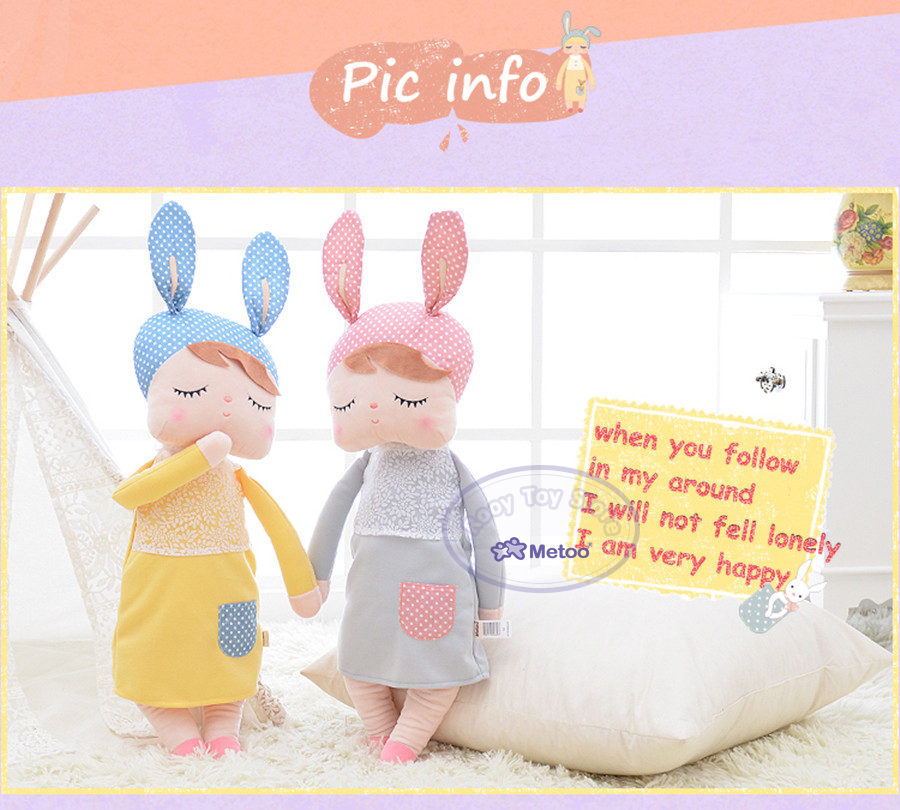 Vendita caldo sveglio dolce peluche & farcito animali kawaii bambini giocattoli angela Metoo coniglio bambola per le ragazze regalo Regalo Di Natale