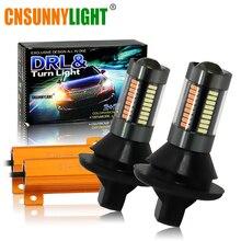 CNSUNNYLIGHT Car 1156 BA15S BAU15S 66SMD светодио дный указатель поворота Amber Canbus T20 7440 лампы накаливания 12 В DRL День ходовые огни белый