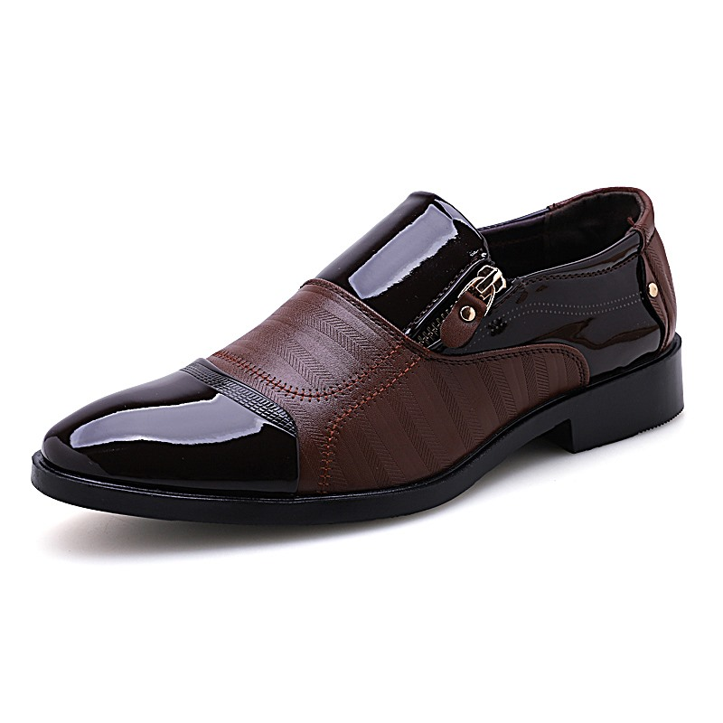 Mens Dress Shoes Classic Formal Shoes Fashion Slip On Casual Leather Shoes Soft Male Oxfords 2019 New Bussines Shoe High Quality Formal Shoes