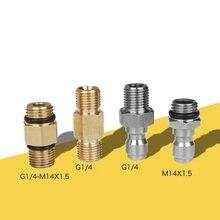 G1/4 m14 alta qualidade adaptador de arruela pressão para bico espuma gerador arma sabão foamer