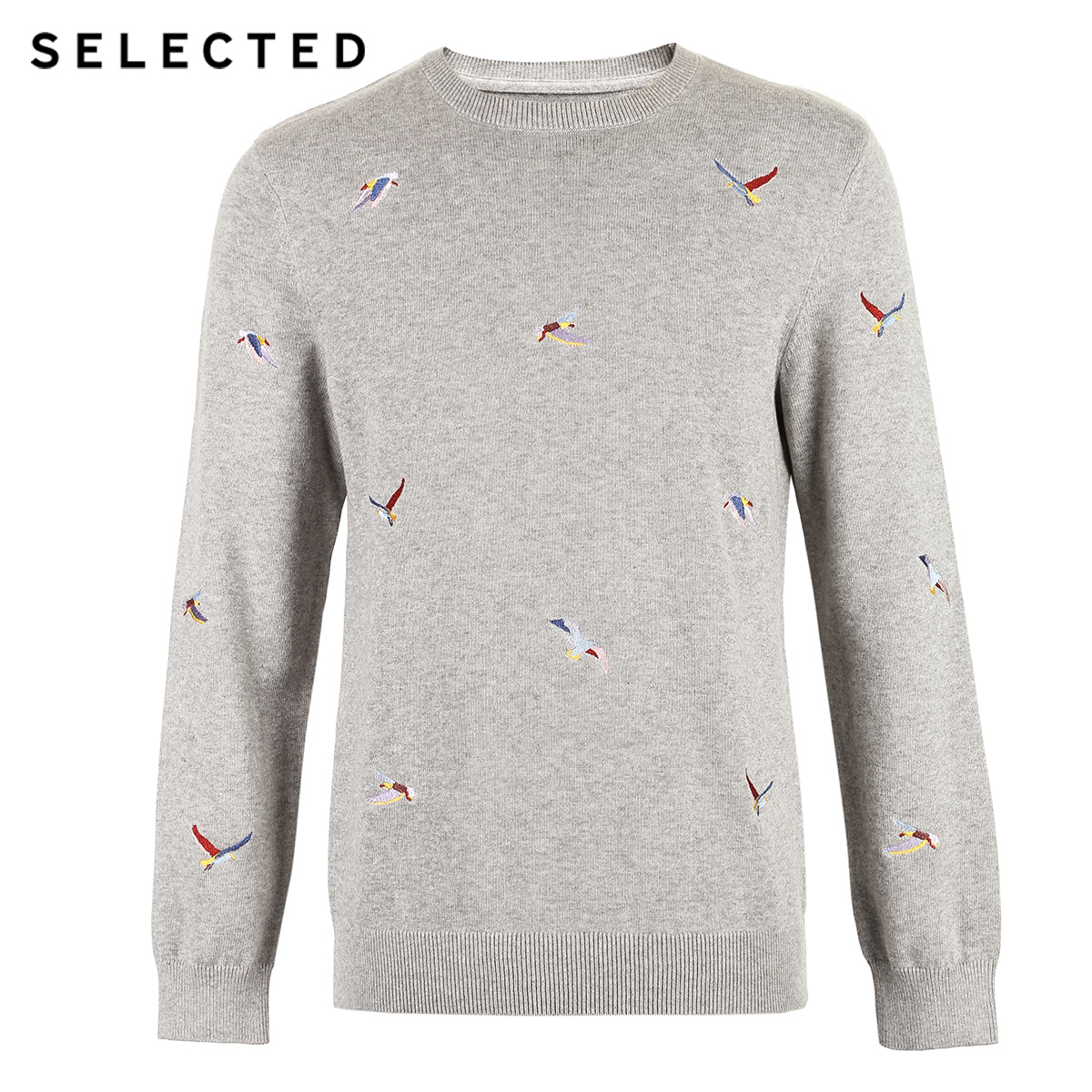 Image 5 - SELECTED Mens 100% Cotton Animal Embroidery Pullovers Sweater New Casual Knit Clothes C  419124539Pullovers