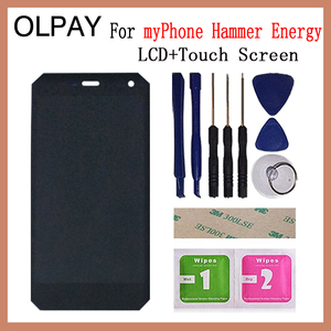 Image 4 - OLPAY pantalla LCD de 5,0 pulgadas para móvil, montaje de digitalizador con cristal de repuesto, para myPhone Hammer Energy